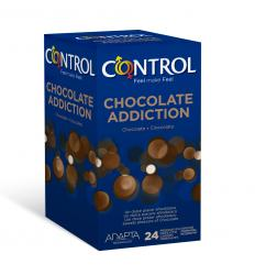 CONTROL CHOCOLATE ADDICTION, Kondómy s arómou čoláda, 24ks