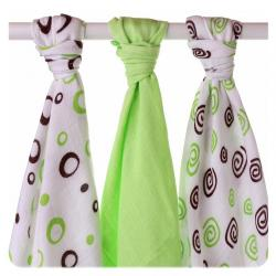 XKKO BMB Spirals&Bubbles 70x70 - Lime MIX (3ks)