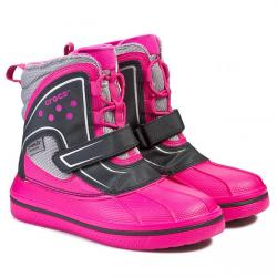 Crocs Allcast Waterproof Boot, candy pink/black, C9 (26)