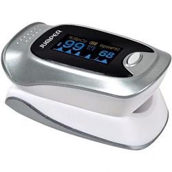 Puzzle JUMPER JPD-500F pulse oximeter with OLED screen and Bluetooth, silver