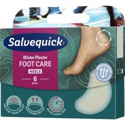 Salvequick Foot Care Blister Náplasť na pľuzgiere, 6 ks